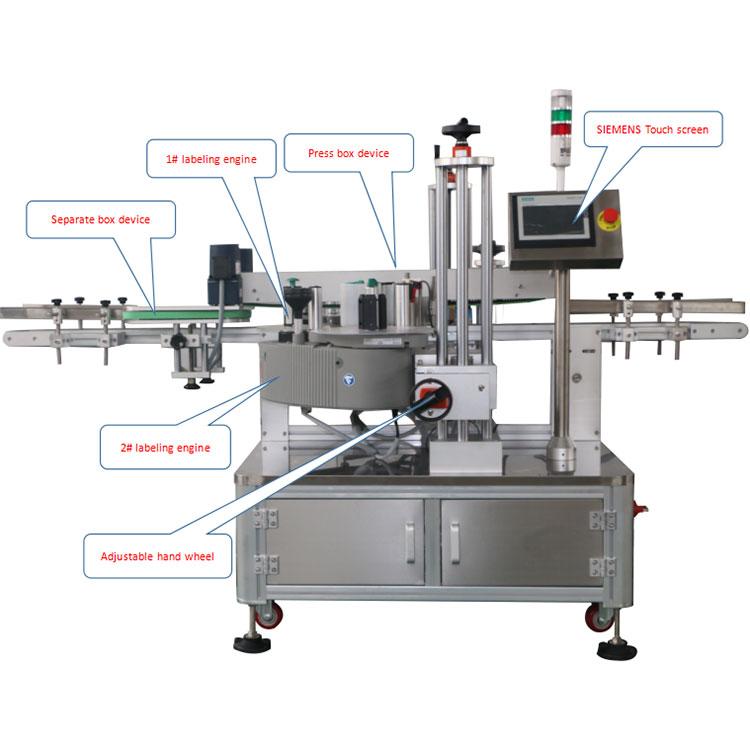 Detaily stroja na automatické označovanie rohovej škatule
