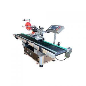 Automatický orientačný okrúhly etiketovací stroj s pevnou polohou a zalamovaním