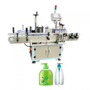 Linka na balenie nápojov, automatický stroj na označovanie plastových fliaš