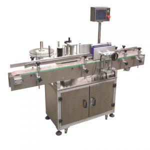 Etiketovací stroj používaný na okrúhle fľaše