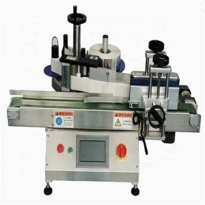 Stroj na starostlivosť o výrobky s okrúhlymi nádobami a štítkami