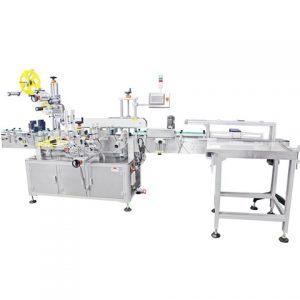 Automatický stroj na označovanie plastových fliaš na čistiace prostriedky