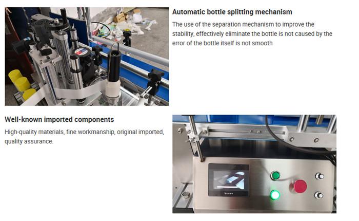 Automatické zariadenie na označovanie stolových fliaš