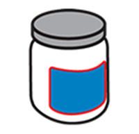 Označenie okrúhlej fľaše